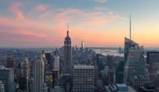 Panorama of New York City at Sunset