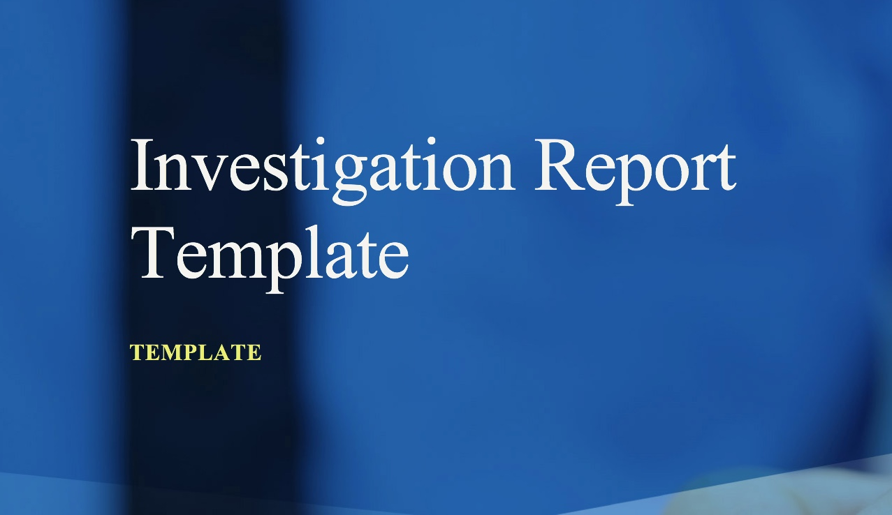 investigation report template free cheap tools for investigators