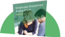 employee disciplinary action form template thumbnail