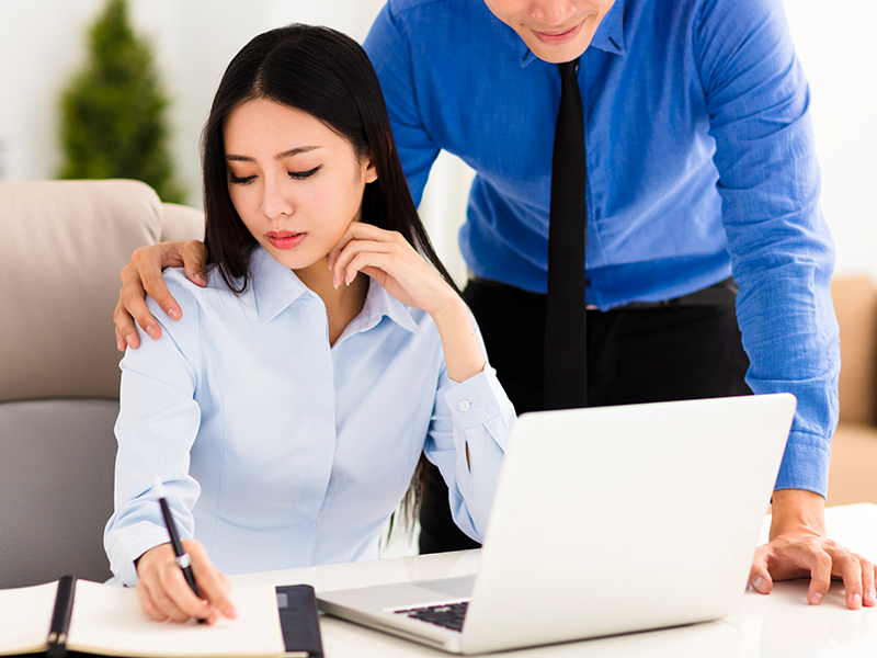 sexual harassment in the workplace between colleagues