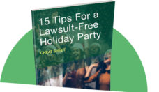 lawsuit free holiday party cheat sheet thumbnail
