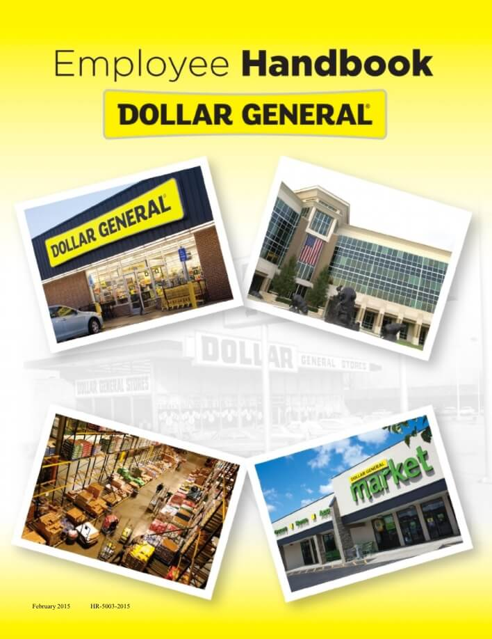 The Dollar General Employee Handbook Holds A Spot On This List For Being Most Thorough And Comprehensive Theyve Checked All Boxes From