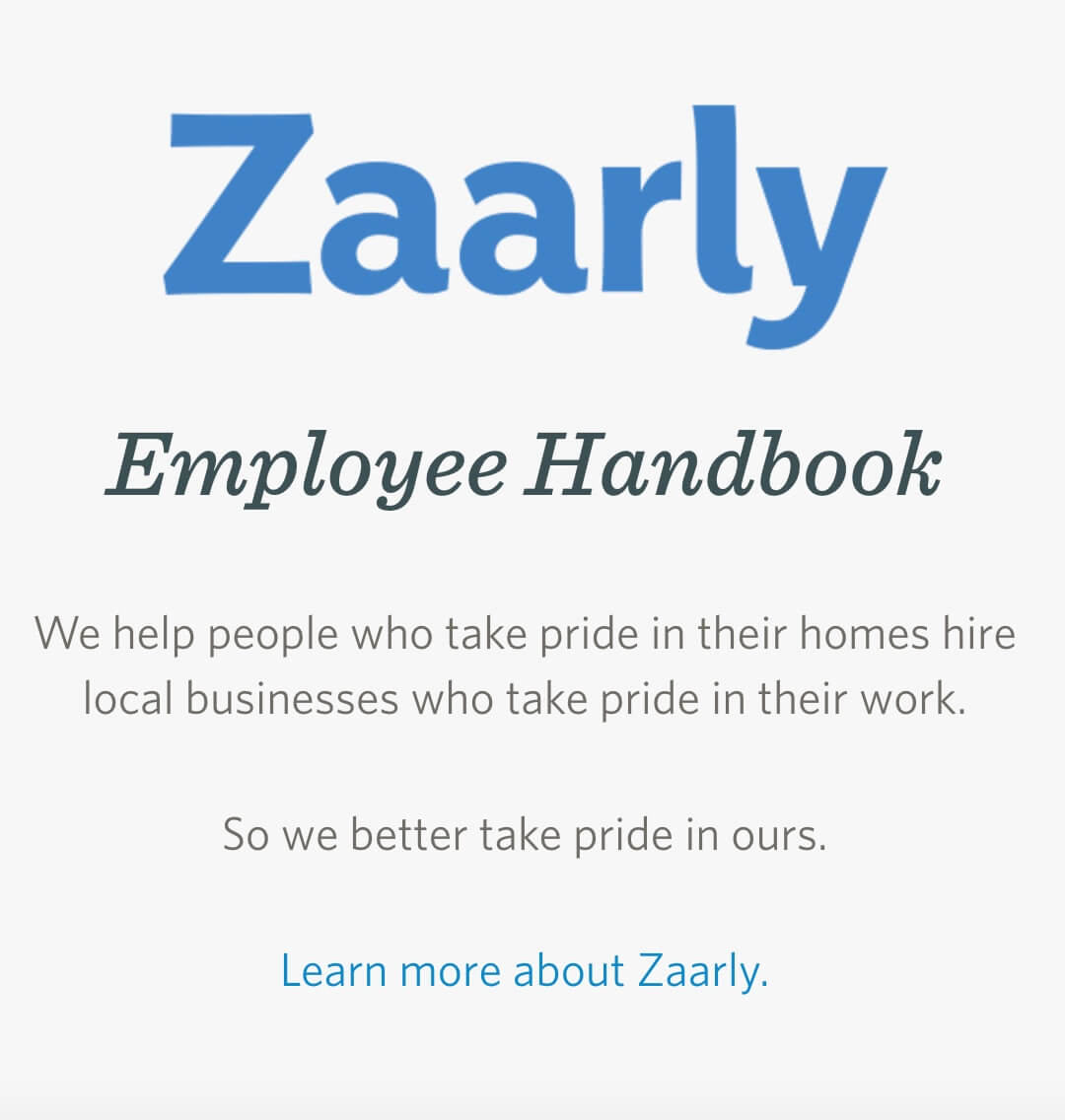 Zaarlys Employee Handbook Looks A Lot Like Sterlings Culture Code Designed On Webpage With Lots Of Color Not Too Much Text And Spaced Out Nicely So
