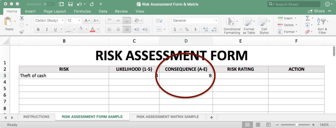 Risk Assessment Form - Consequence