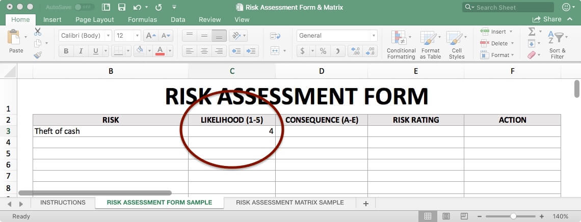 Risk Assessment Form - Likelihood