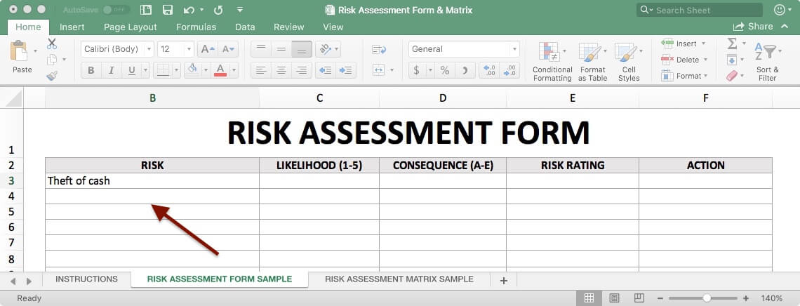 Risk Assessment Form - Risk