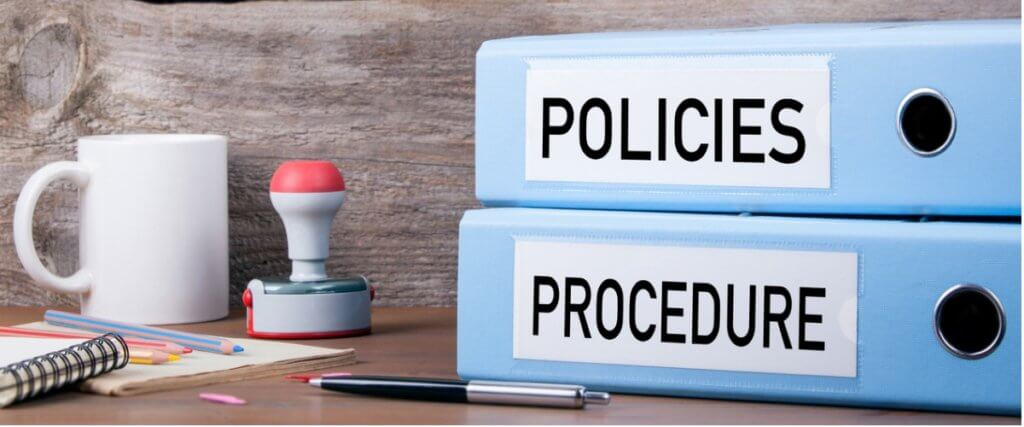 policies and procedures template